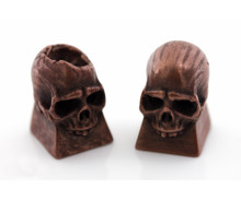 Copper Filament Skull Print