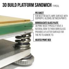 Ultem PEI 3D Printing Surface Bed Sandwich
