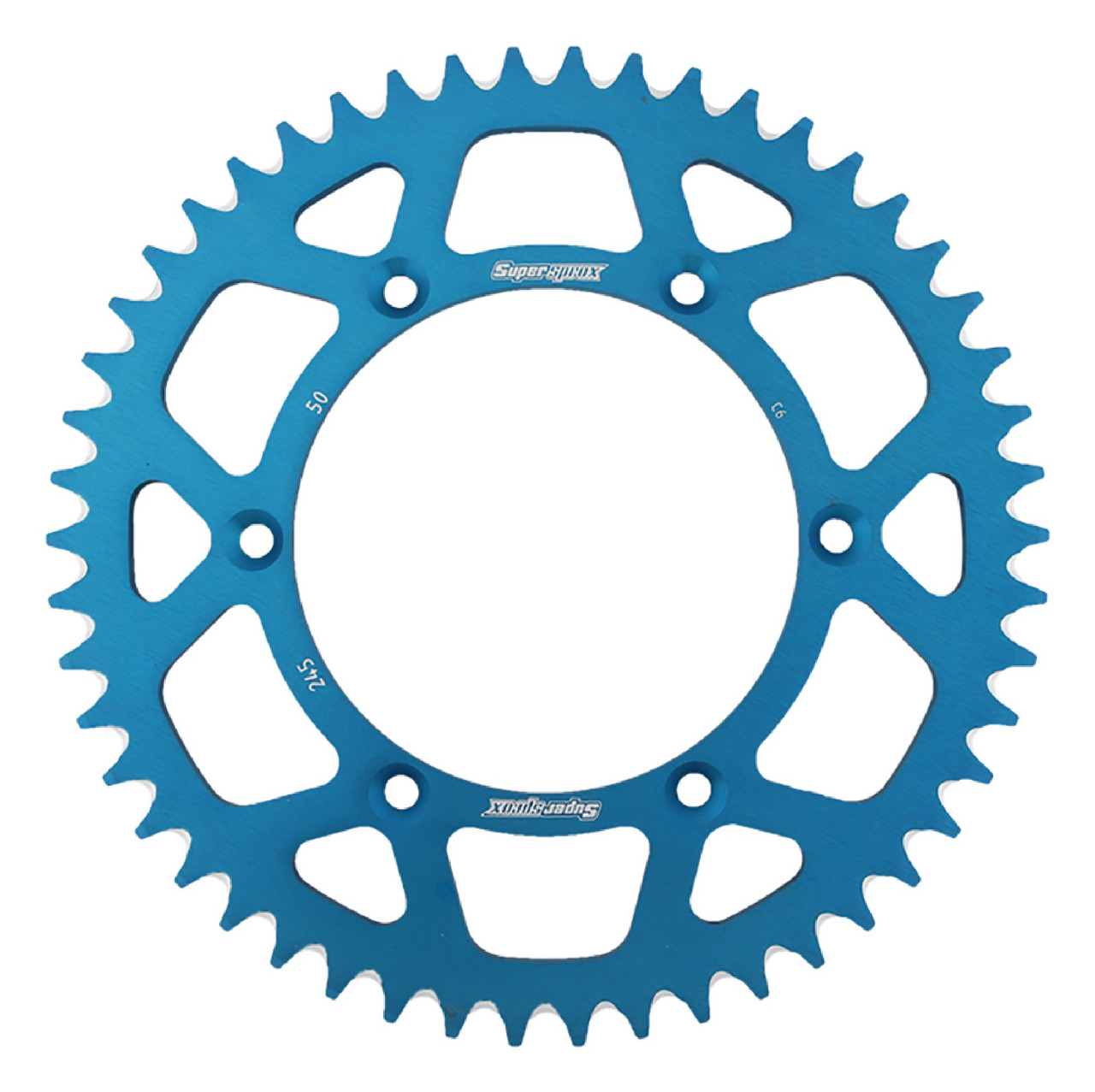 Supersprox New Blue Aluminum Sprocket 50T RAL-245-50-BLU Chain Size 520