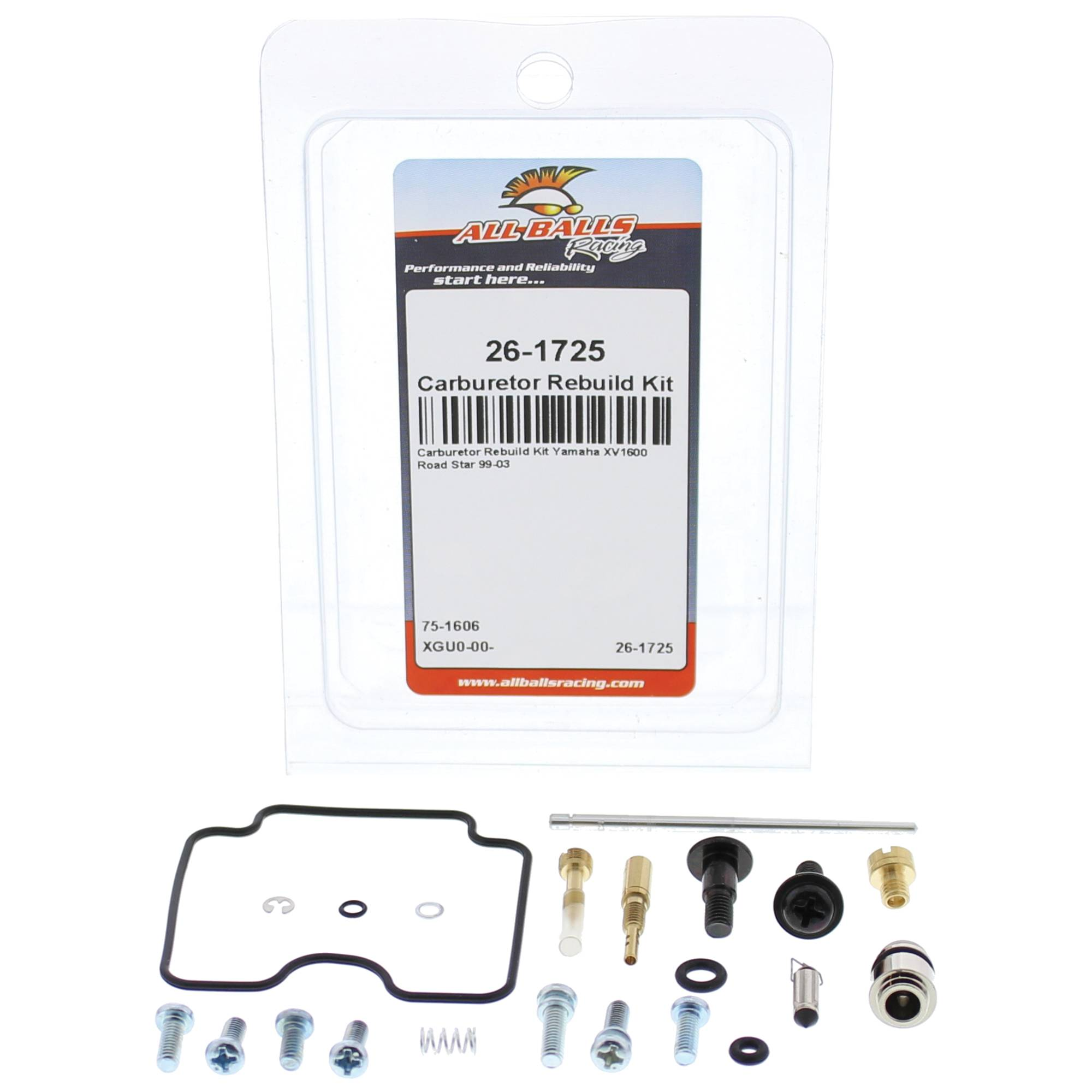 ALL BALLS 26-1725 Bike Carburetor Rebuild Kit