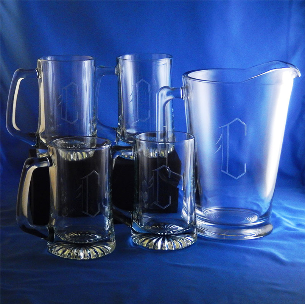 Personalized Tailgate Beer Pitcher Set