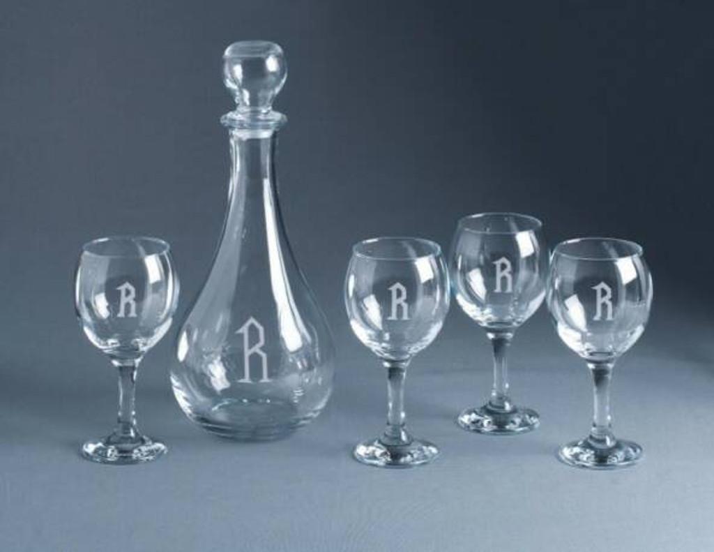 Personalized De Vino 5 piece Wine Set