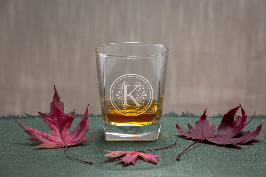 Monogrammed Square Sterling OTR Glasses