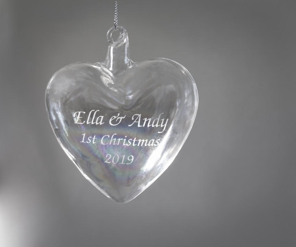 Personalized Blown Heart Ornament