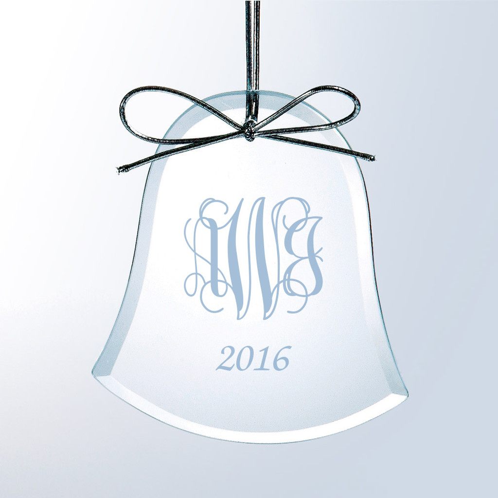 Personalized Flat Bell Ornament