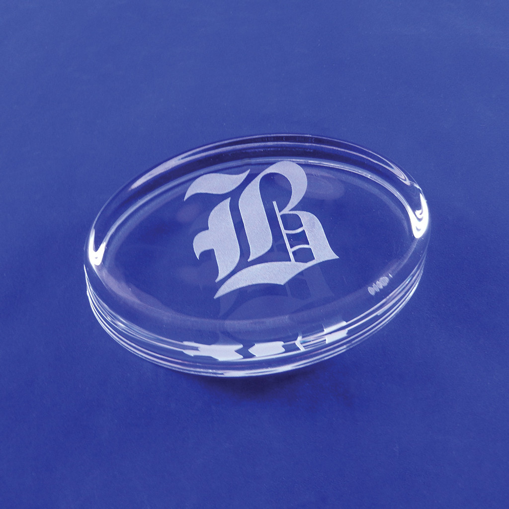 Monogrammed Oval Paperweight
