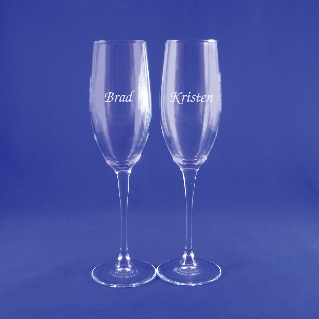 Personalized Connoisseur Champagne Flute Pair