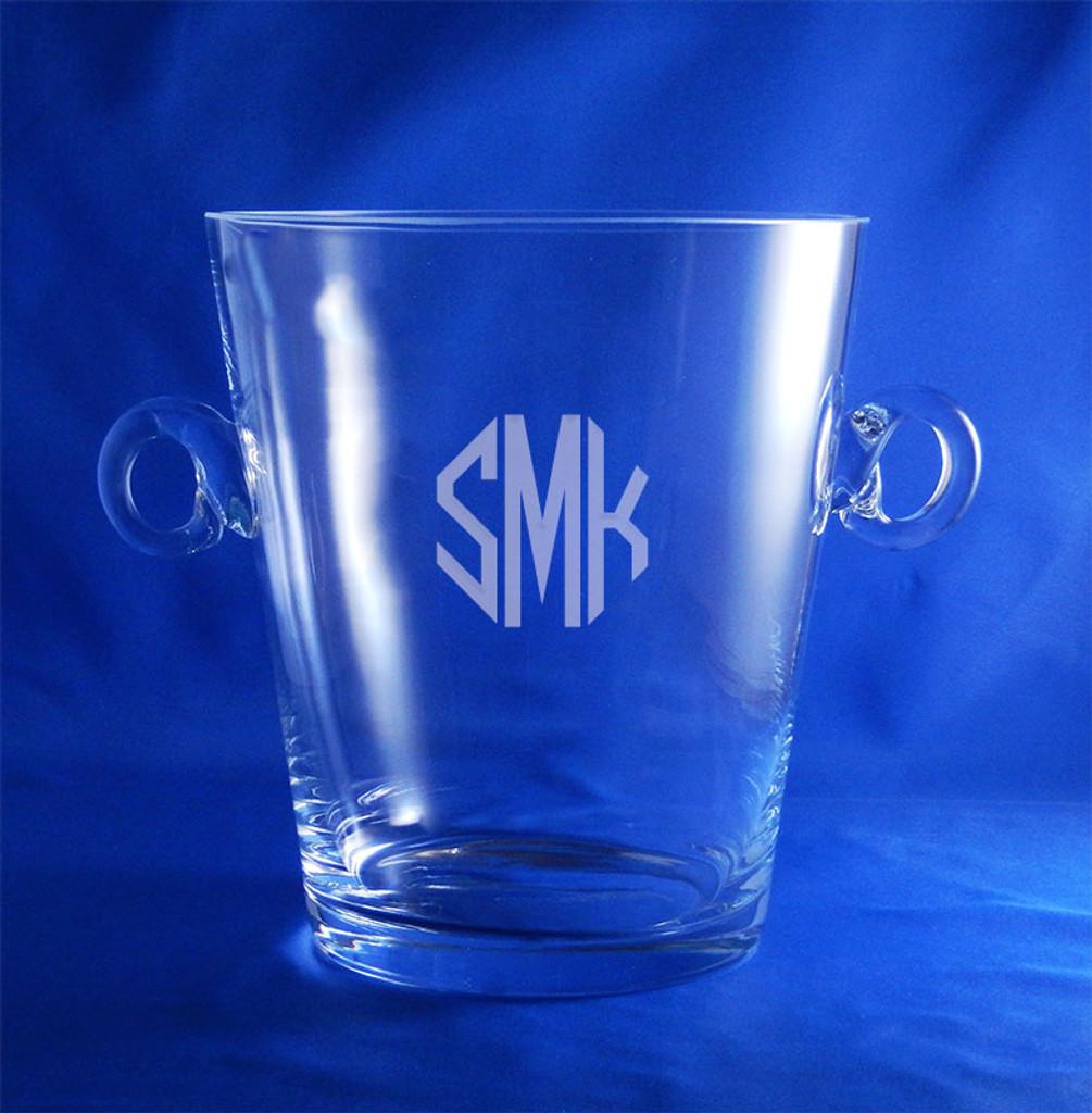 Monogrammed Crystal Manhattan Ice Bucket