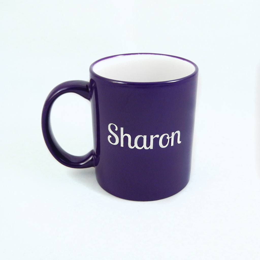 Personalized Purple Coffee Mug