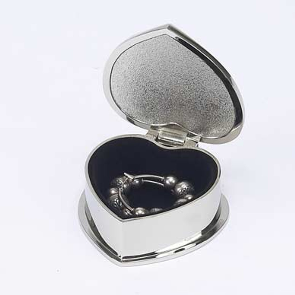 Personalized Mirrored Heart Jewelry Box Inside Lining