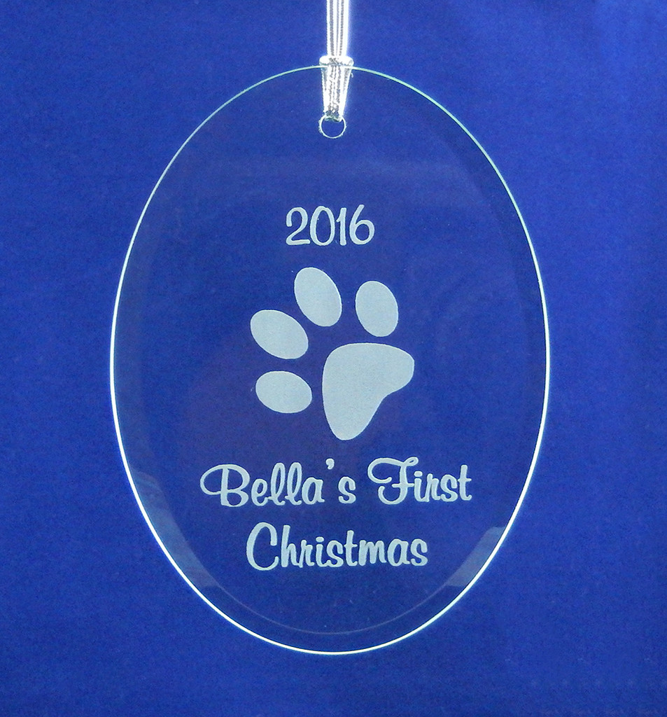 Dogs First Christmas Ornament.Personalized Dog S First Christmas Ornament