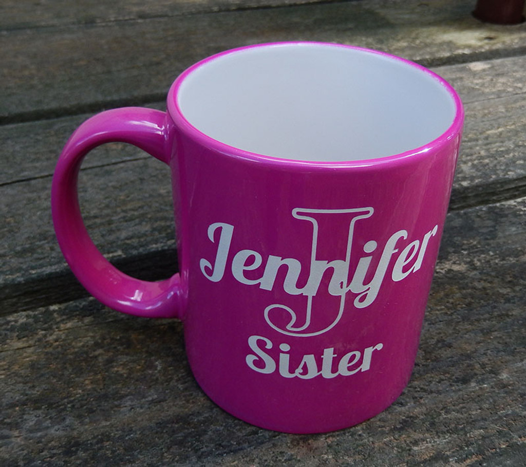 Hot Pink Coffee Mug Personalized for Ladies