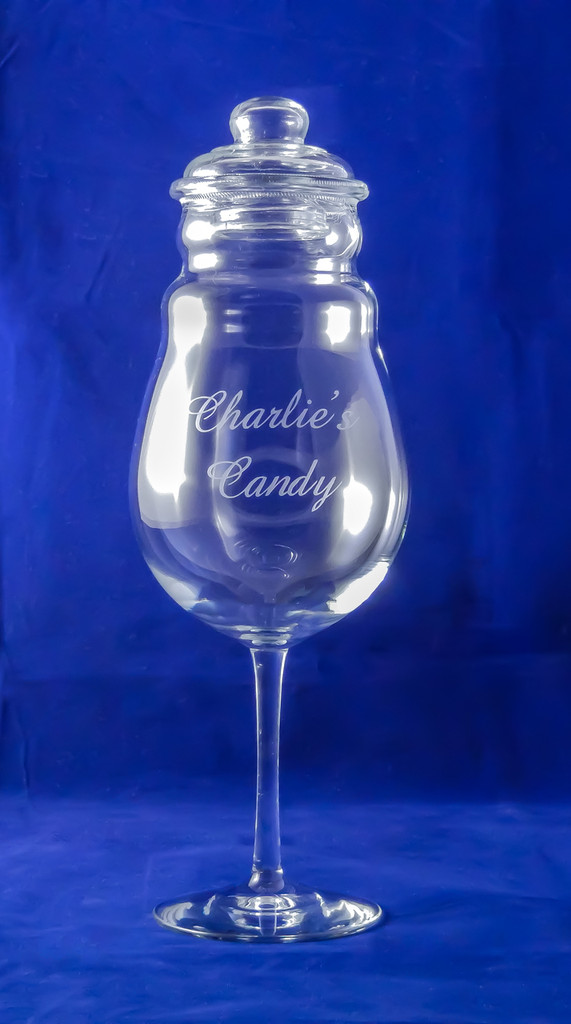 Personalized Small Footed Candy Jar