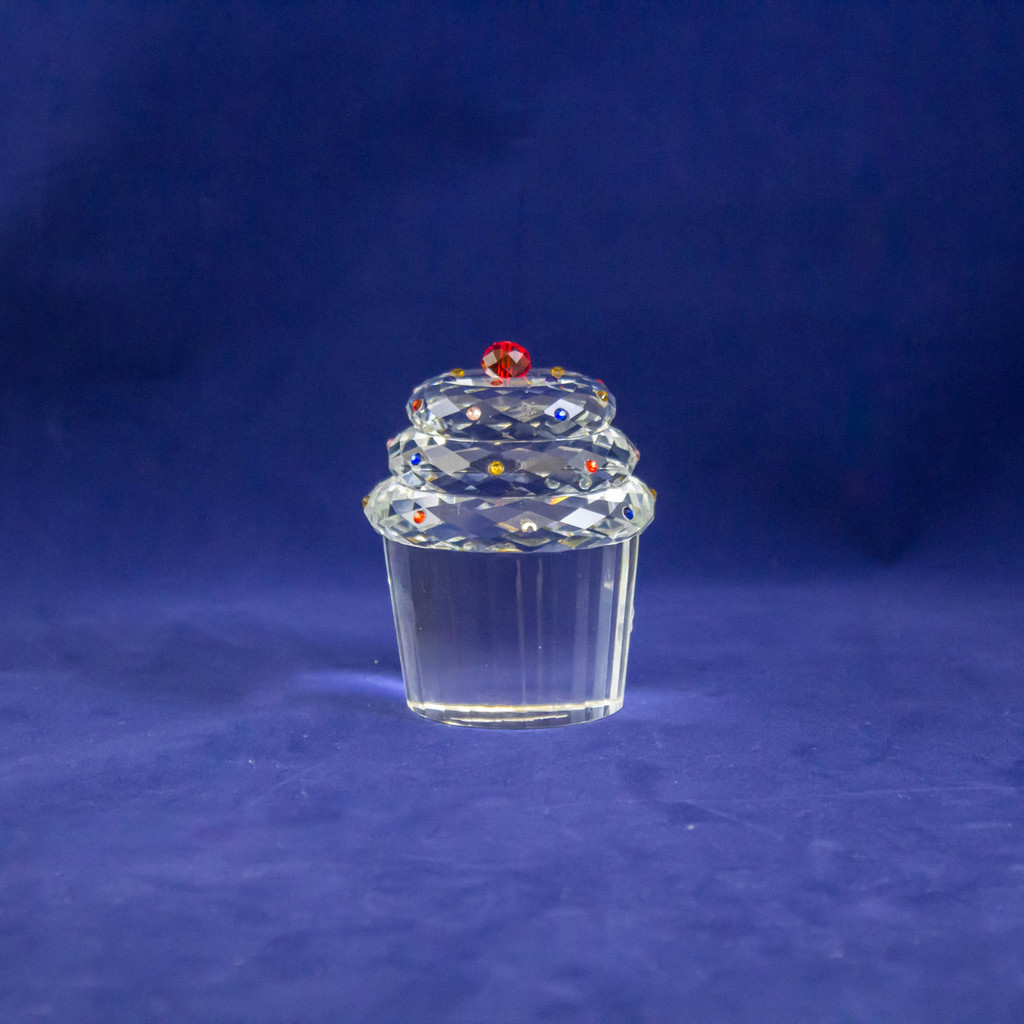 Crystal Cupcake Figurine by Oleg Cassini