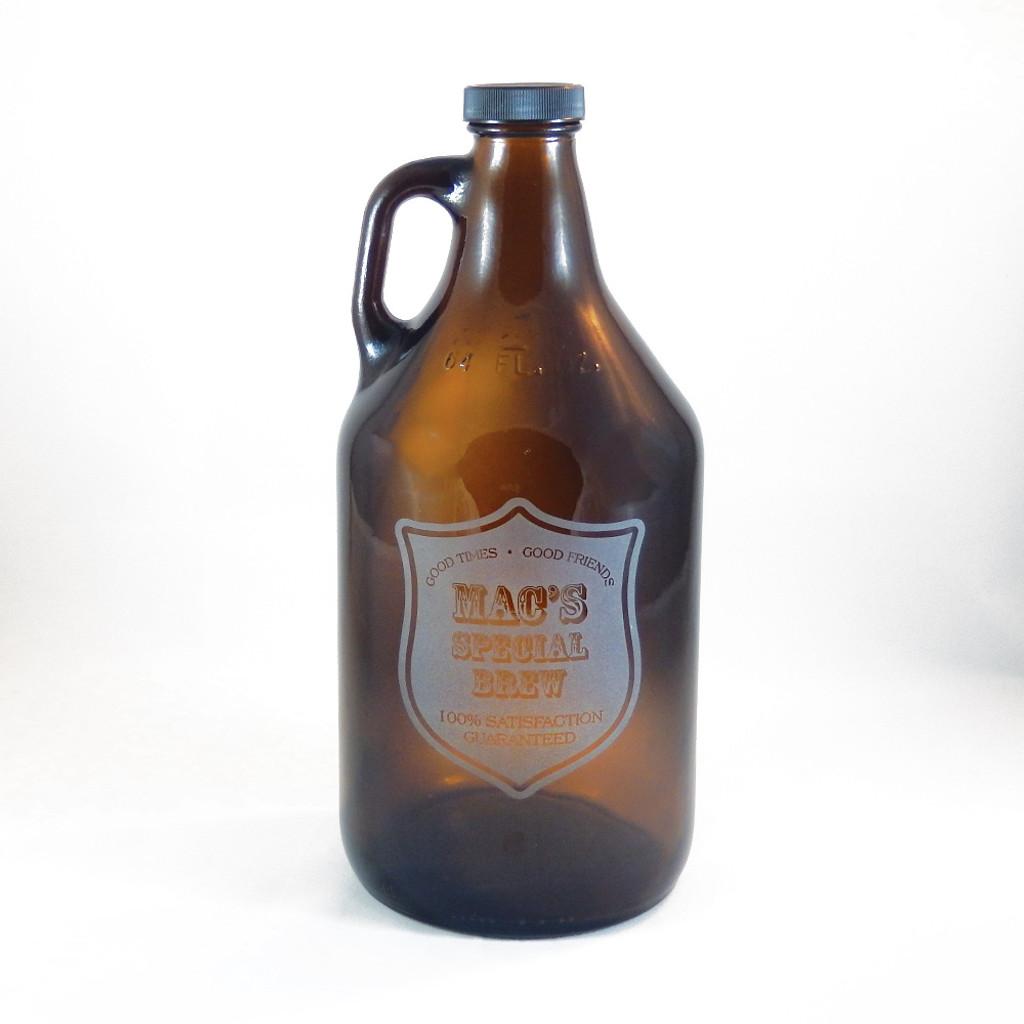 Personalized Brown Beer Growler