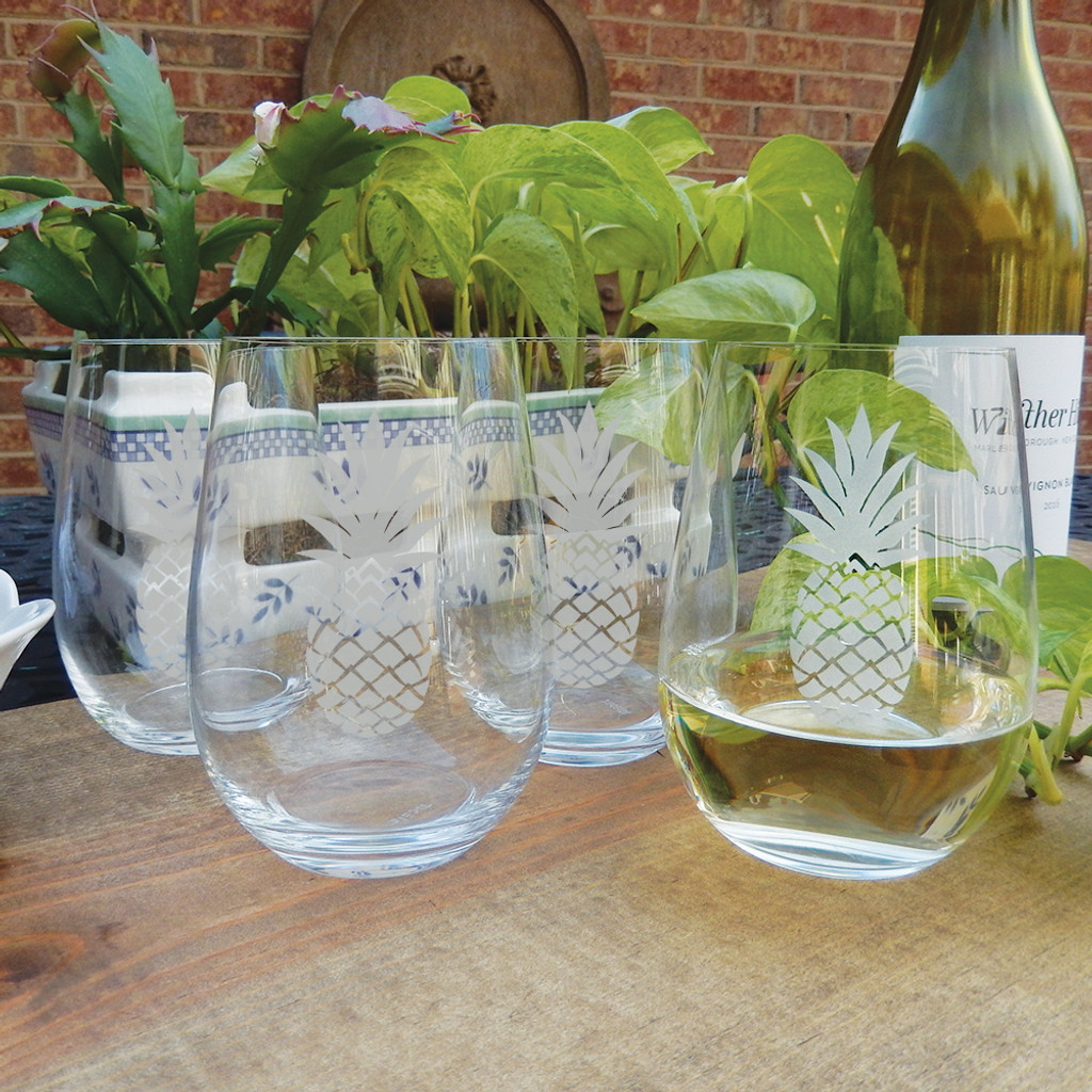 Pineapple Stemless Wine Glass Set by RIEDEL