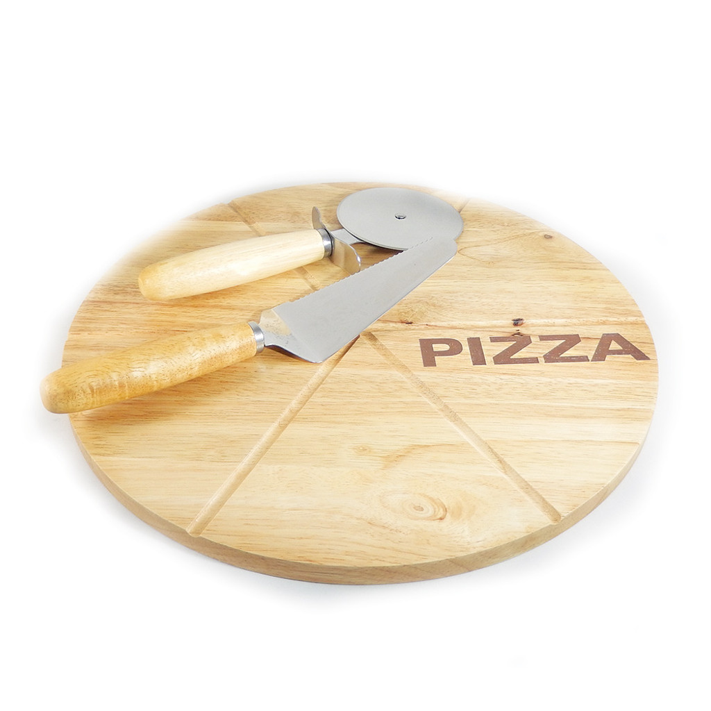 Personalized Wooden Pizza Server Set