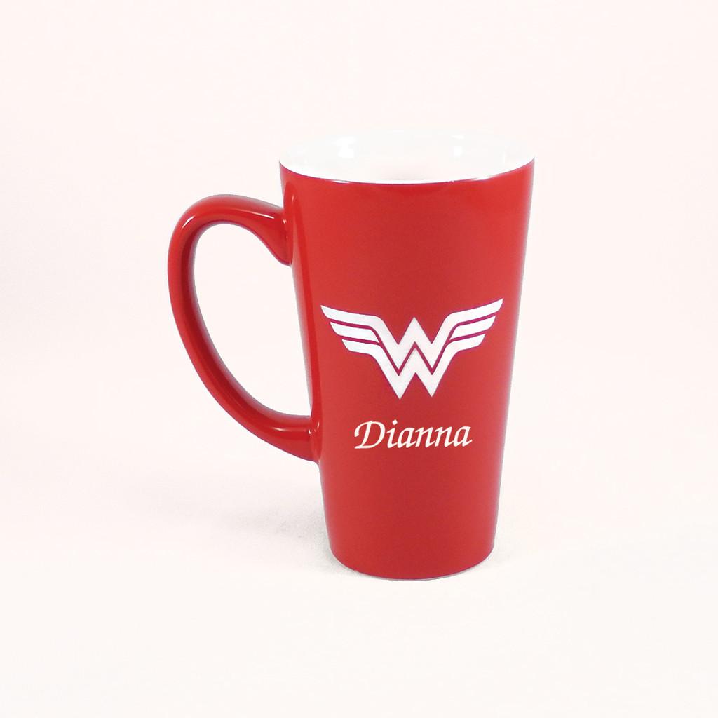 Personalized Red Wonder Woman Mug