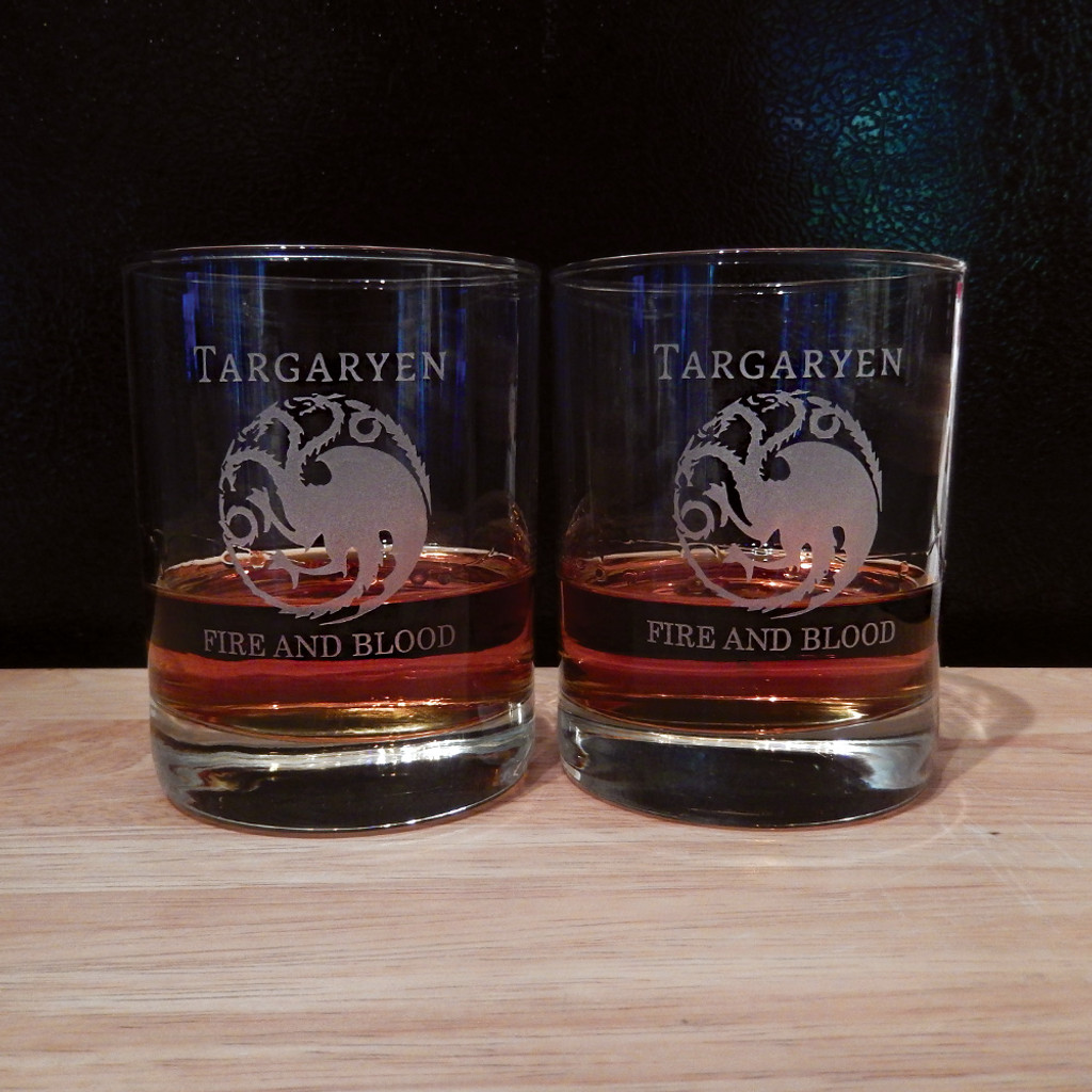 Personalized Game of Thrones DOF Glass Pair