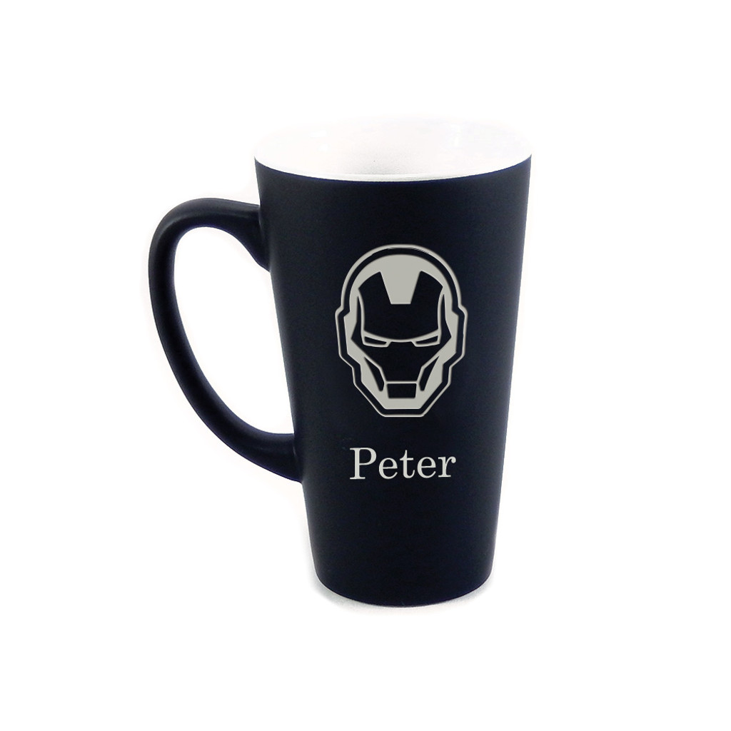 Personalized Black Iron Man Mug