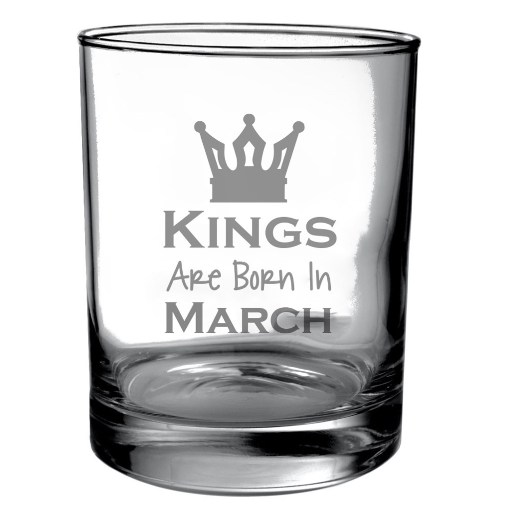 Personalized Birthday Month DOF Glass for Guys