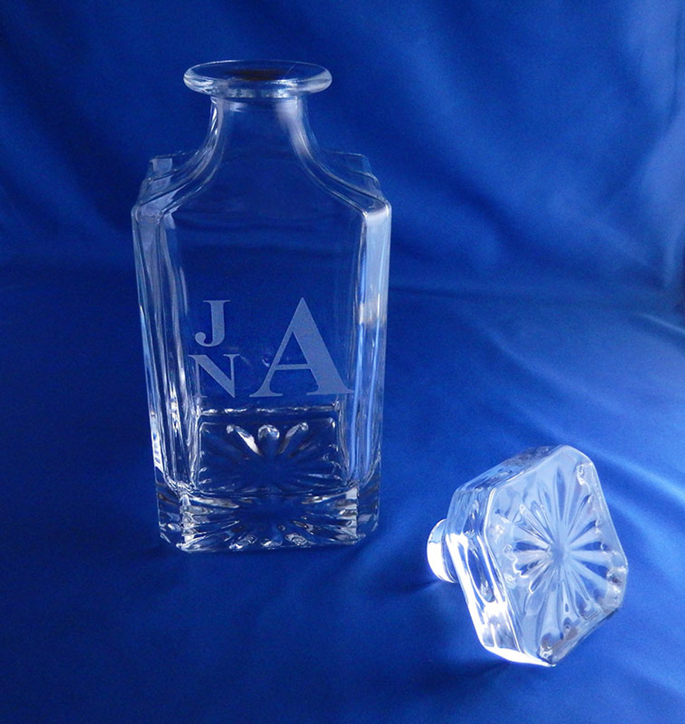 Personalized Sunburst Crystal Liquor Decanter