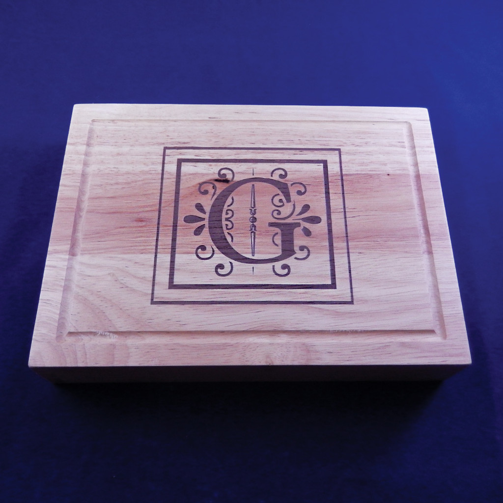 Personalized Rectangular Wooden Cheeseboard Set