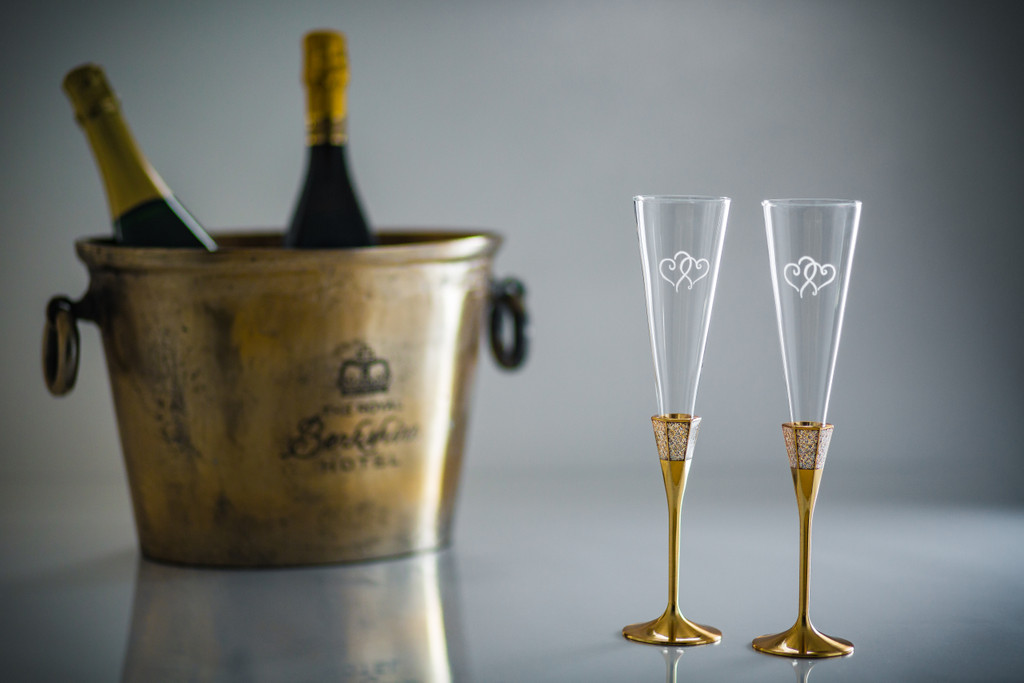 Lismore Flutes by Waterford - Golden Accents