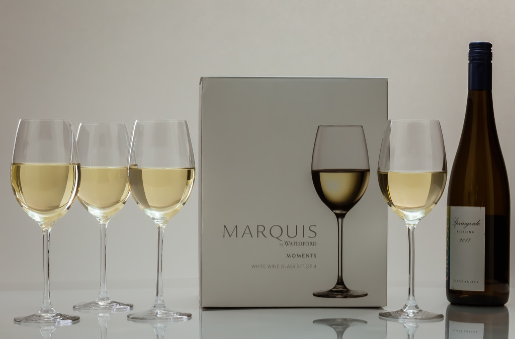 Personalized Marquis Moments White Wine Glasses (set of 4)