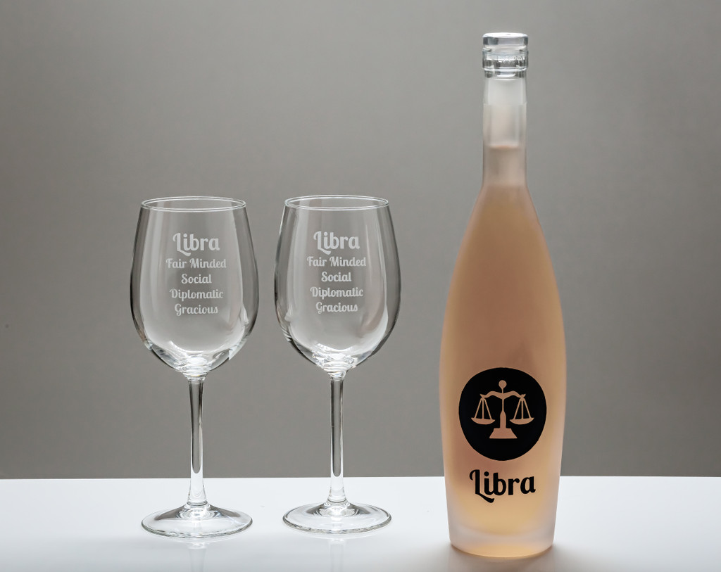 Zodiac Wine Set (filled with French Rose')