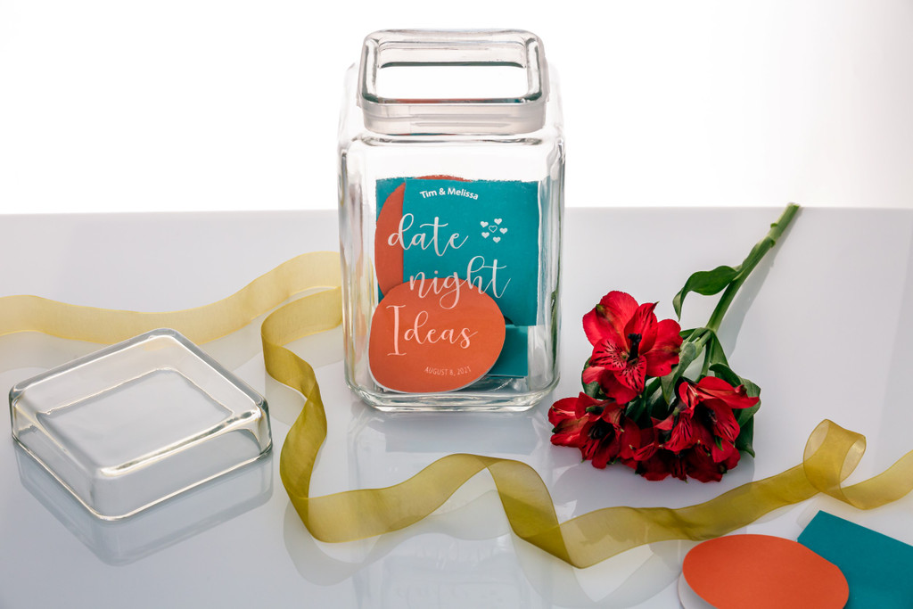 Personalized Date Night Idea Canister Jar
