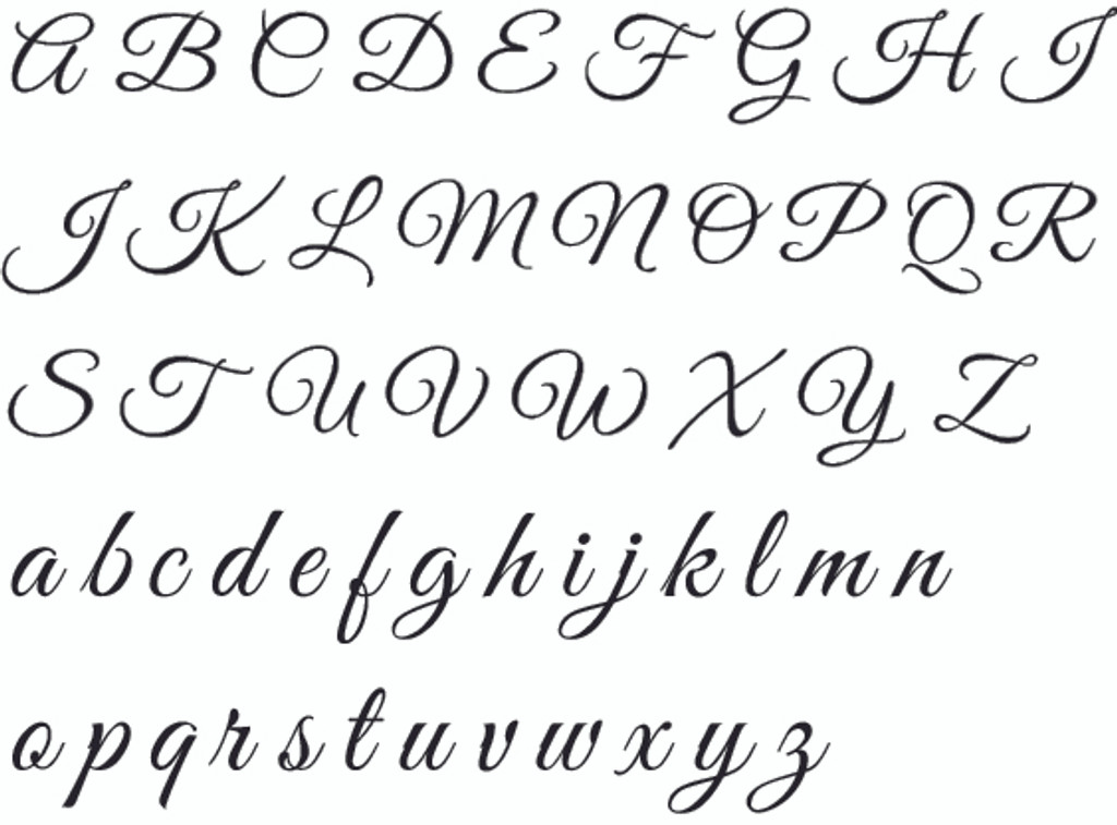Great Vibes Alphabet