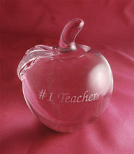 Personalized Crystal Apple