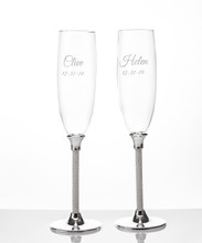 Personalized Jubilee Toasting Flutes by Lenox