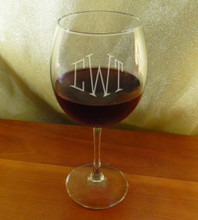 Personalized Red Wine Balloon Glass
