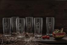 Monogrammed Texas Glasses