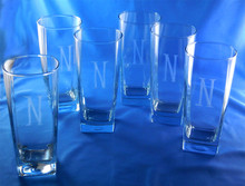 Monogrammed Sterling Glasses