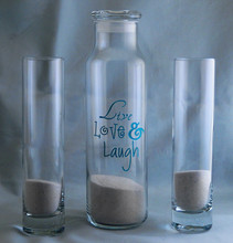 Engraved Live, Love, and Laugh 3pc Sand Ceremony Set