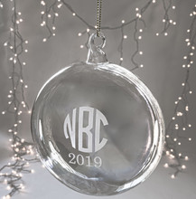 Personalized Blown Flying Saucer Ornament