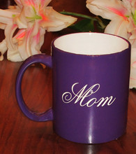 Personalized Purple Coffee Mug for Mom
