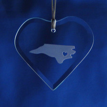 Personalized State Pride Flat Heart Ornament
