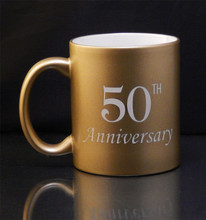 Personalized Golden Anniversary Coffee Mug