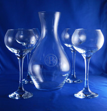 Personalized Sonnet Wine Carafe Set, 5 pieces