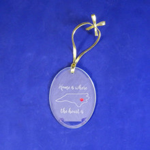 Home is Where the Heart is Christmas Ornament