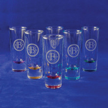 Monogrammed Jewel Shooter Glass Set