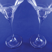 Personalized Sparkle Martini Glasses with engraving