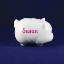 Personalized Porcelain Piggy Bank
