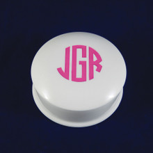 Personalized Round Porcelain Jewelry Box