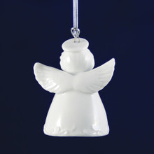 Personalized Porcelain Angel Bell Ornament Back View