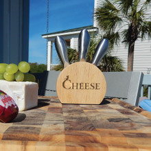 Personalized Cheese Block Set with Metal Utensils